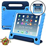 PURE SENSE BUDDY Kids Case compatible with Galaxy Tab E 8.0   Anti Microbial Shock Proof Cover for Kids   Protective Case for Boys, Girls   Shoulder Strap, Handle & Stand   Samsung SM-T375 T377 (Blue)