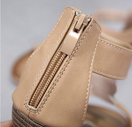 avec Femmes pente tongs dames suspendus été vacances sandales Black filles Huaishu chaussures perles Rwqaa1