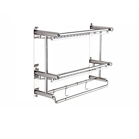 AIYoo Stainless Steel Bathroom Shelves,2 Tier Anti Rust Kitchen Shelf Rack  With