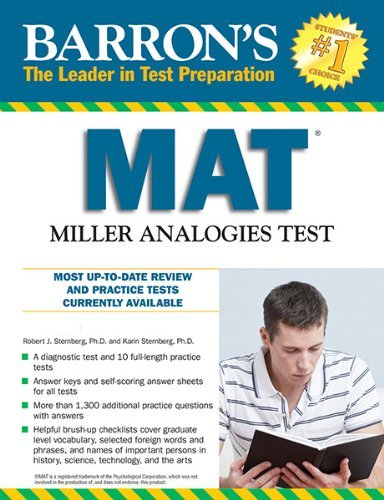 By Karin Sternberg Ph.D. - Barron's MAT, 11th Edition: Miller Analogies Test (11th Edition) (2013-09-16) [Paperback]