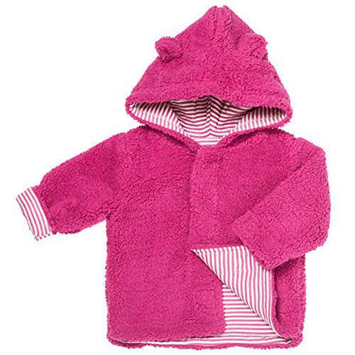 Magnificent Baby Girls Fleece Jacket Fuzzy Lined Magnet Close Hooded Coat 6-12 M ()