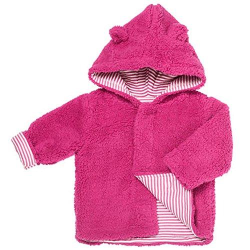 Magnificent Baby Girls Fleece Jacket Fuzzy Lined Magnet Close Hooded Coat 6-12 M (Fleece Jacket Denali Girls)