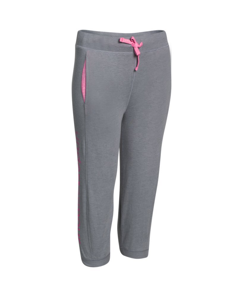 Under Armour Girls' UA Half-Time Capri LG (14-16 Big Kids) x One Size Steel by Under Armour (Image #1)