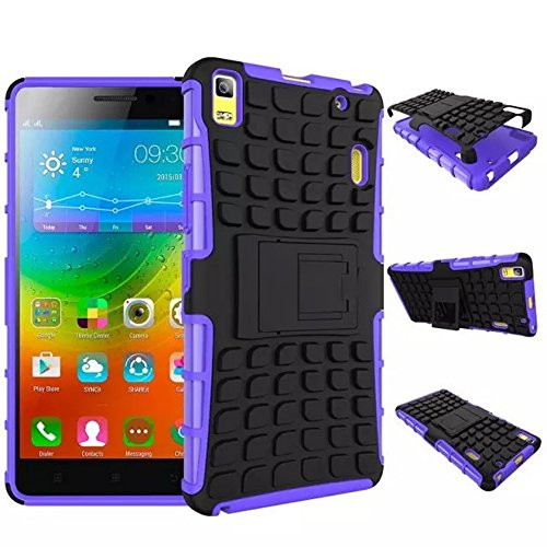 Lenovo A7000 Case [iCoverCase] Heavy Duty Armor Hybrid [Dual Layer] KIickstand Back Holster Shockproof Cover Protecive Case for Lenovo A7000 / K3 Note (Purple)