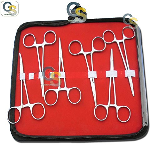 """G.S 6 PCS SET OF 5"""" HALSTED MOSQUITO FORCEPS"""
