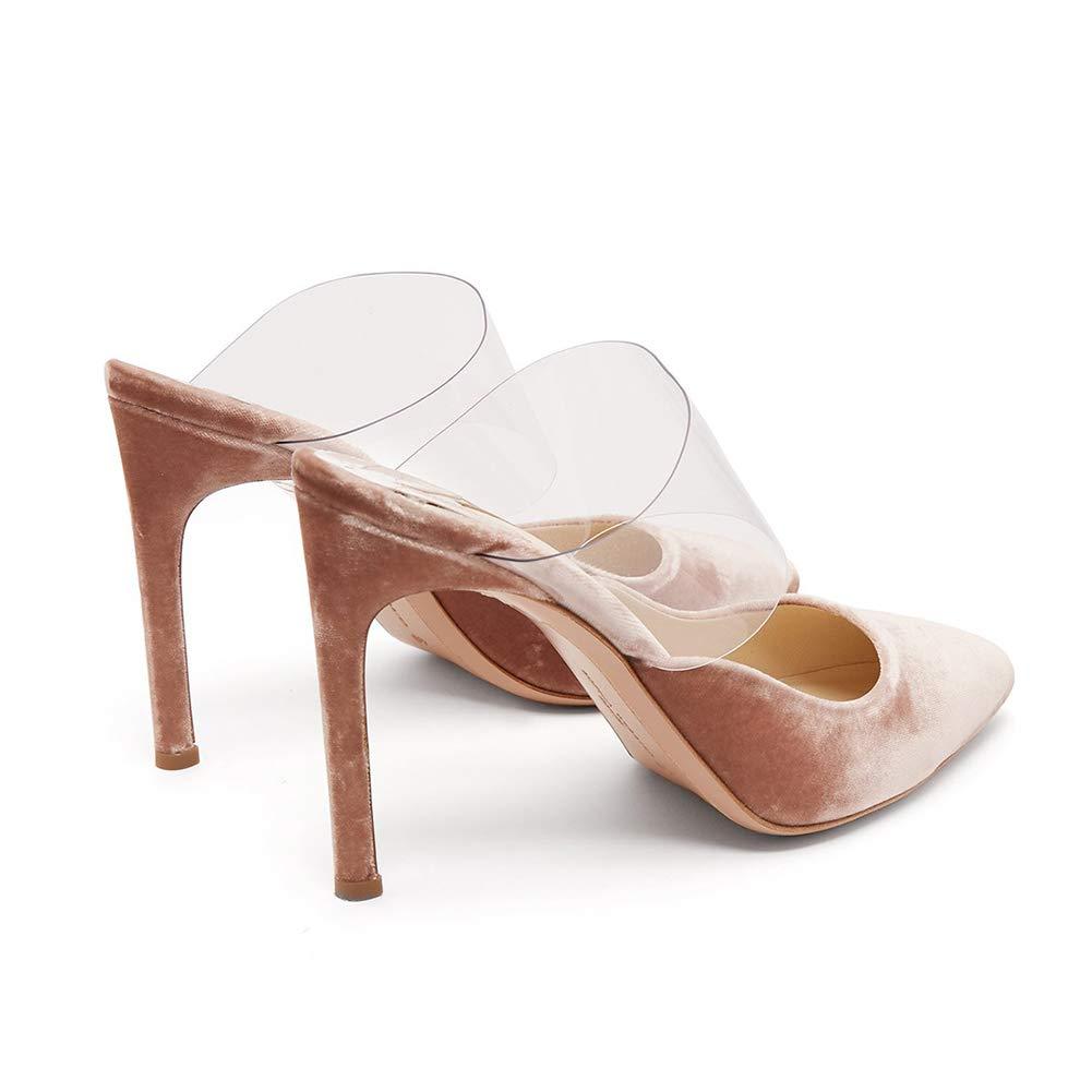 Sandalen Wildleder Stiletto Spitze Zehe High Heel,MWOOOK-490 Damen Transparente PVC PVC PVC Klub Party Hochzeit Kleid Schuhe 34-45 EU e60e50