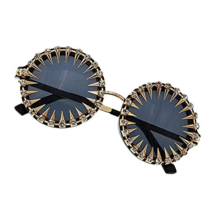 Perline Da Donna Occhiali Diamante Con Junhongzhang Circolari Circolare Sole Resina In