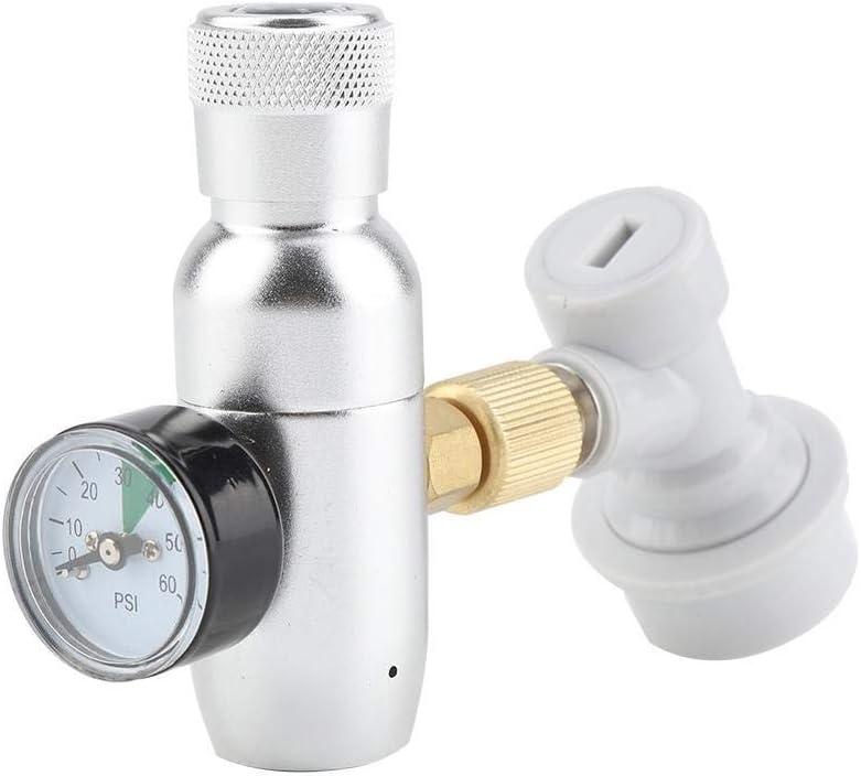 Fictory El regulador de Carga y Homebrew CO2 16g Regulador Kit Cargador de Gas de desconexión Principal Cerveza de Barril kegerator (0-60 PSI)