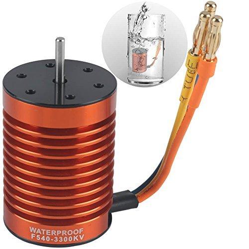 RCRunning - Sistema de alimentación sin escobillas (Impermeable, 1/10, F540, 3300 KV, Motor sin escobillas Impermeable,...