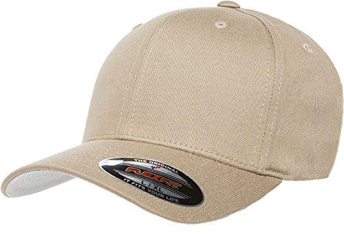 Flexfit/Yupoong 5001 V-Flexfit Cotton Twill Hat Cap (Small/Medium, Khaki)