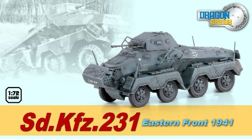Dragon Models Sd.Kfz.231 Eastern Front 1941 Kit, 1:72 Scale - German King Tiger Production Turret