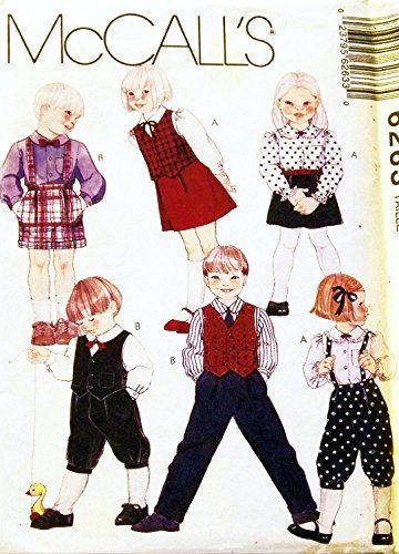 (McCall's 6263 Childs Lined Vest, Skirt, Pants Knickers and Shorts Sundress Toddler Pattern Size 3 Wedding)