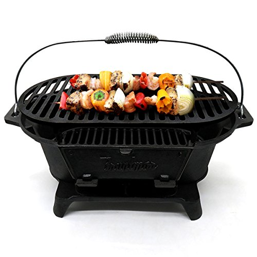 Bruntmor Hibachi-Style Cast Iron Charcoal BBQ Grill