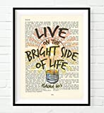 "This is a UNFRAMED reproduction print of a King James Bible page with a positive paraphrased saying. The inspired scripture, Isaiah 60:1, says ""Arise, shine, for your light has come, and the glory of the Lord rises upon you."" We scan real pag..."
