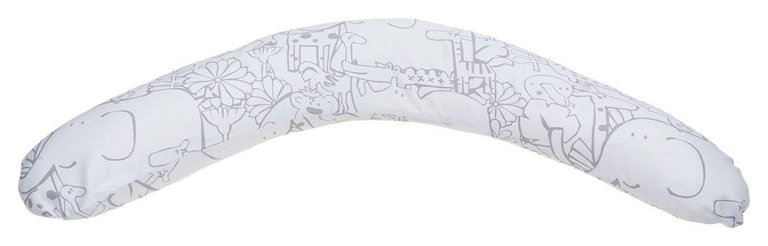 Cambrass Be Zoo - Cojín de lactancia ergo, 16 x 110 x 63 cm, color blanco/gris