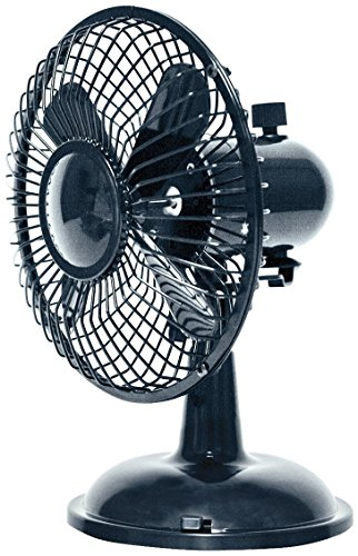 Oscillating Desk Fan Dual Powered USB or Battery Black 2 Speed Quiet Operation (Usb Fan Oscillating compare prices)
