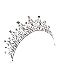 MonkeyJack Vintage Sparking Rhinestone Crown Tiara Headband Wedding Hair Accessories