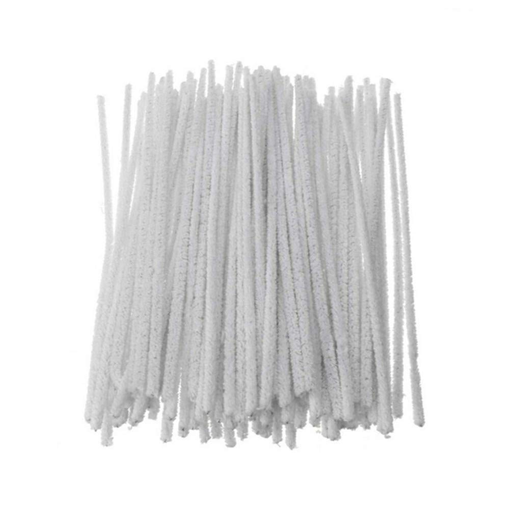 300 Pcs/Lot 3MM Intensive Cotton Pipe Cleaners DIY Cleaning Tool (White)