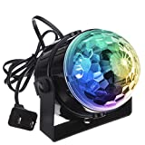 Image of DJ light Sound Activated Party Lights Disco Ball - KINGSO Strobe Club lights Effect Magic Mini Led Stage Lights For Christmas Home KTV Xmas Wedding Show Pub - RGB 3W 7Color