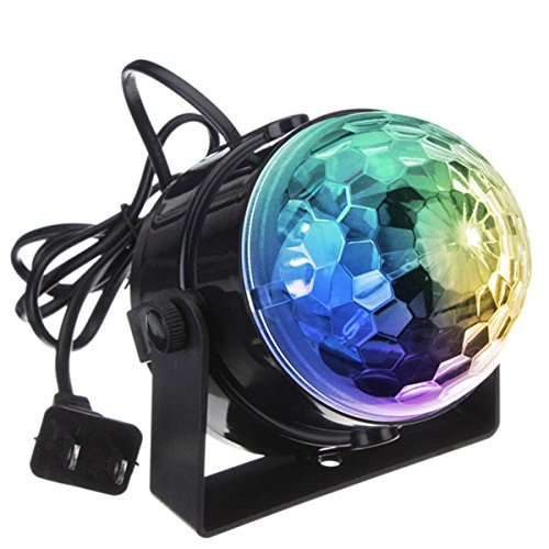 DJ light Sound Activated Party Lights Disco Ball - KINGSO Strobe Club lights Effect Magic Mini Led Stage Lights For Christmas Home KTV Xmas Wedding Show Pub - RGB 3W (Disco Strobe Light)