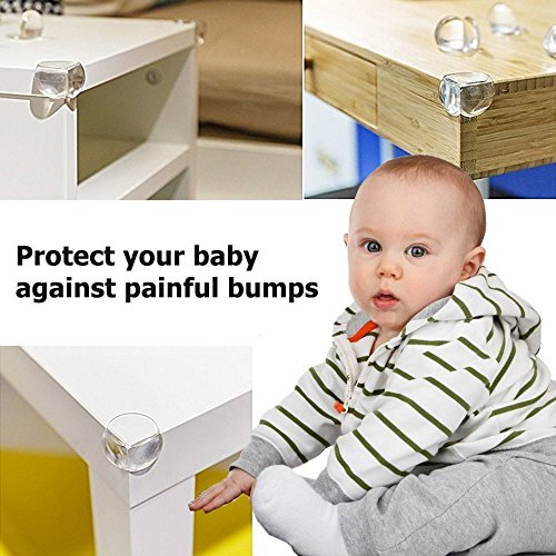 G-Tree Baby Proofing Edge & Corner Guards Set,6.5 ft Cover Edge 16Corners Guard Edge Furniture Protectors Corner Cushion Protection (Brown) by G-Tree (Image #7)