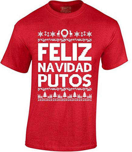 Awkward Styles Feliz Navidad Putos Christmas T-Shirt M Red for $<!--$9.95-->