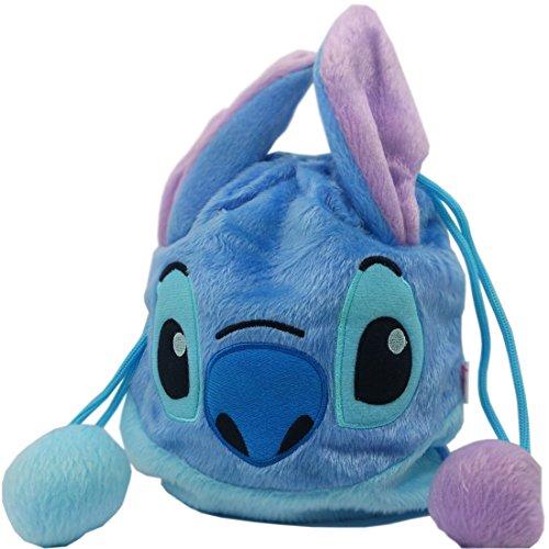 Disney Stitch Drawstring Plush Pouch Kids Bag