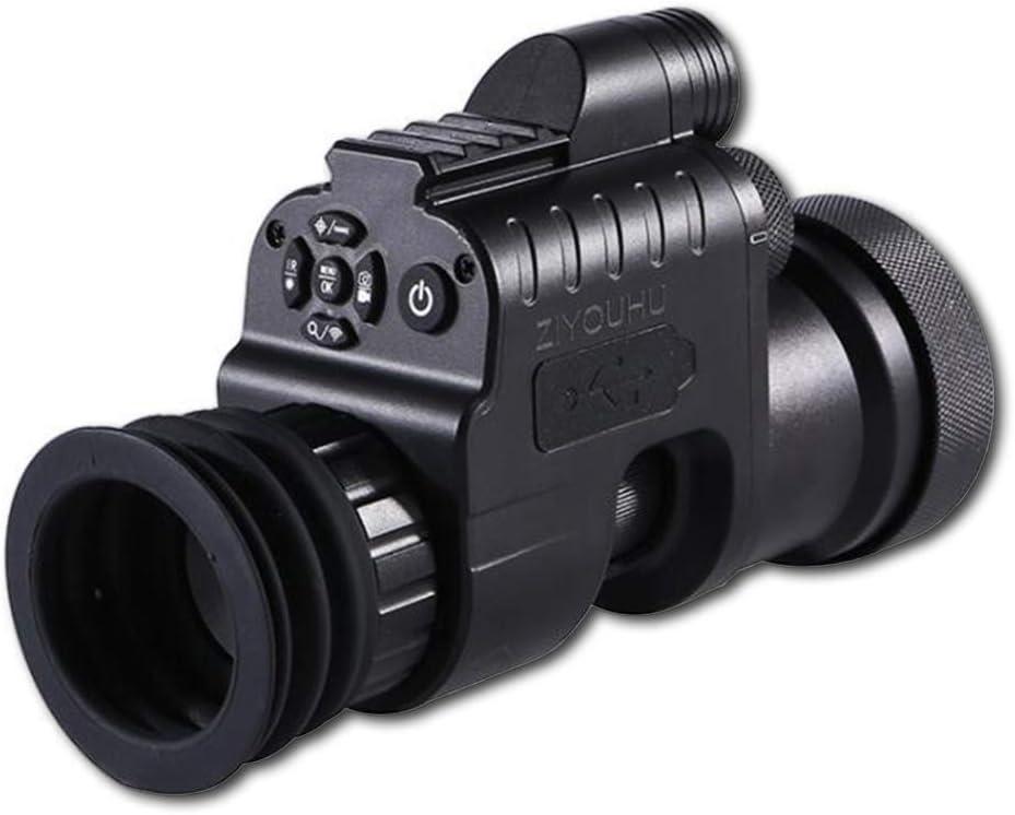 Visión Nocturna Caza Alcance Militar Telescopios monoculares 200m 1080P HD Cámara Digital Día Visión Nocturna Caza WiFi IR Infrarrojo 4x-14x,+ adapter 45 mm