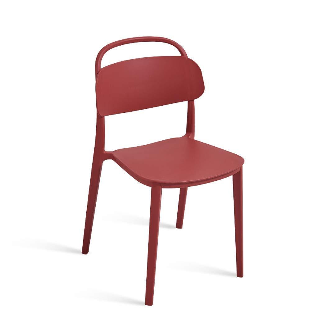 Grrlloki Silla-Moderno Sillón Nórdico Minimalista Casa Silla Creativa De Plástico Restaurante De Ocio para Adultos Silla De Oficina Taburete Silla,Red