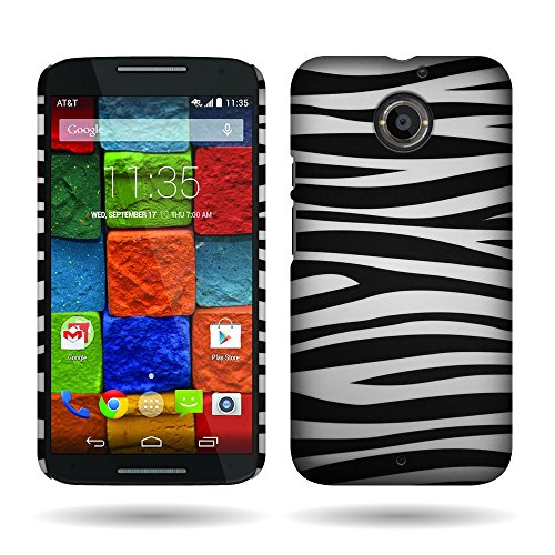(Motorola Moto X (2nd Generation) Case, by CoverON Silver Zebra Design Case Protective Cover for Motorola Moto X (2nd Gen.) 2014)