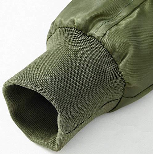 De Battercake Piel Chaqueta Cuello Calor Aérea Cálido Hombres Espesar para Capucha Desmontable Cómodo Piel Capucha Sintética con Grün Fuerza La con De De Abrigo S5S4q
