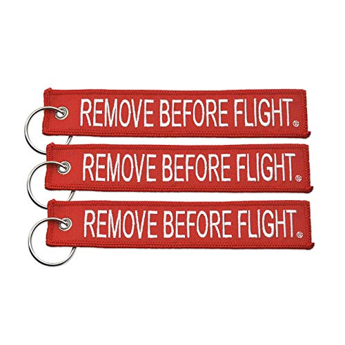 Apex Imports 3x Remove Before Flight Red/White Key Chain 5.5