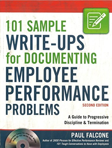 101-sample-write-ups-for-documenting-employee-performance-problems-a-guide-to-progressive-discipline