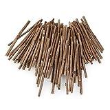craft wood sticks - Tinksky 10CM Long 0.3-0.5CM in Diameter Wood Log Sticks for DIY Crafts Photo Props 100pcs (Wood Color)
