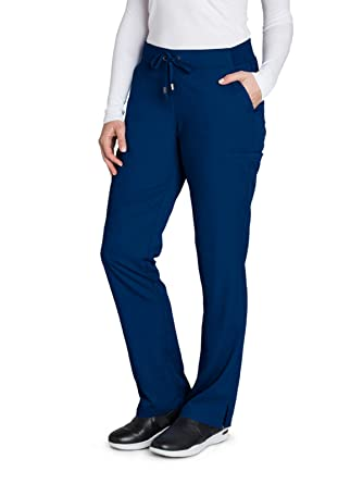99342ecd59e Grey's Anatomy 6-Pocket Flat Front Pant for Women - Modern Fit Medical  Scrub Pant