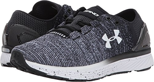 Under Armour Women's Charged Bandit 3, Black/White/White, 8 B(M) US