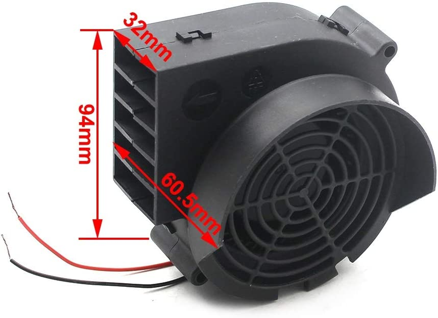 GHMOZ Electrical Equipment B /& R DC 12V 0.8A Brushless Fan Worm Gear Blower Brushless Cooling Fan High Speed Big Wind