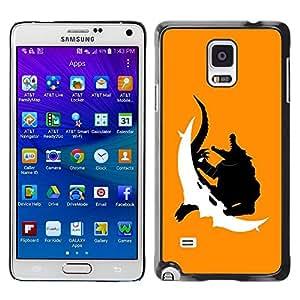 Be Good Phone Accessory // Dura Cáscara cubierta Protectora Caso Carcasa Funda de Protección para Samsung Galaxy Note 4 SM-N910 // Crocodile Monster