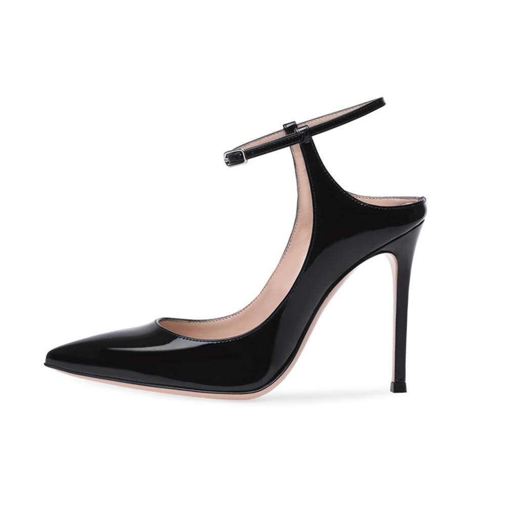 YTTY Talons Pointus Noirs Homard Chaussures à Talons Hauts Chaussures de Grandes Tailles pour Les Les dames pour Femmes, Noir, 39