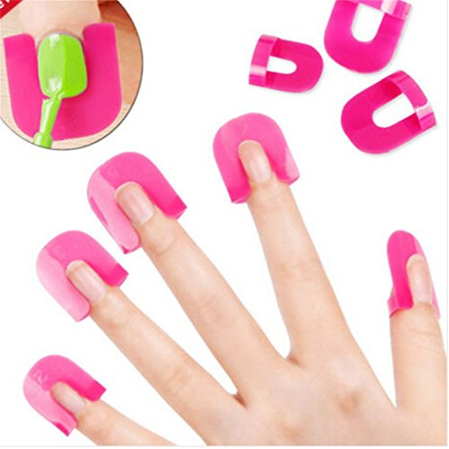 UNKE 26x Nail Art Polish Protection Reusable Nails Edge Skin Barrier Tip Protector Application