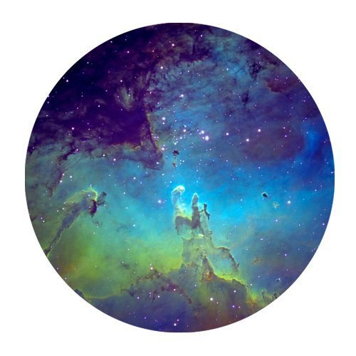 Galaxy Nebula Space Starry Star Sky Night Round Non-Slip Rubber Mousepad Gaming Mouse Pad