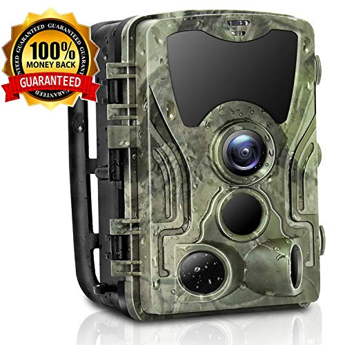 Micoke Trail Camera 16MP 1080P 2.4″ LCD Game & Hunting Camera with 42pcs IR LEDs Infrared Night Vision up to 75ft/23m IP65 Waterproof for Wildlife Animal Scouting Digital Surveillance
