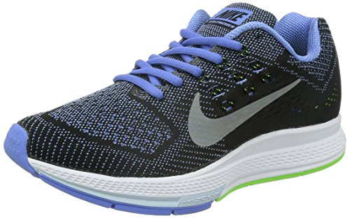 NIKE Womens Air Zoom Structure 18 Running Shoe Polar/Metallic Silver/Flash Lime/Black TnwYdxfPM