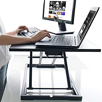 Standing Desk Converter, Height Adjustable sit-Stand up Desk Laptop Stand with 20.1×31.5 Inch Work Area, Fully Assembled (Black)