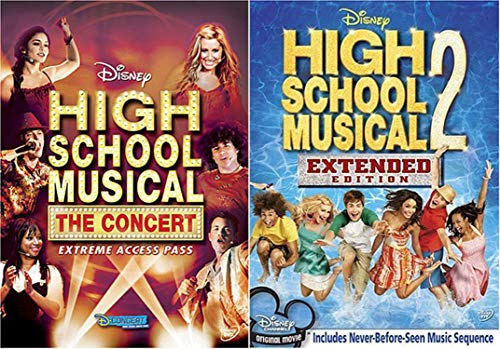 HSM Disney 2-Pack Exclusive Bundle High School Musical: The Concert - Extreme Access Pass & High School Musical 2 - Extended Edition (Target Exclusive)