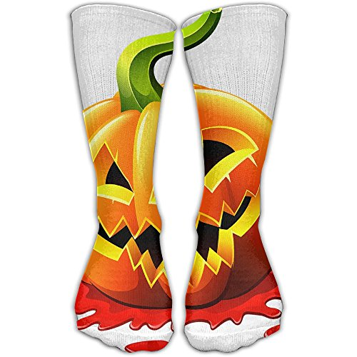 Halloween Pumpkin Women & Men Socks Soccer Sport Tube Stockings Length -