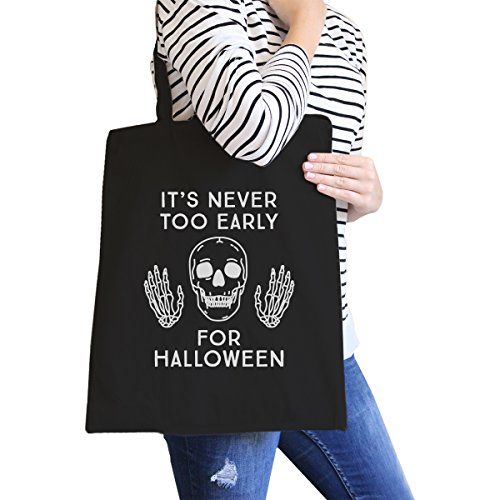 365 Printing Never Too Later For Halloween Shoulder Bag Reusable Canvas Bag Gift by 365 Printing