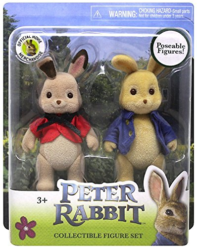Peter Rabbit Collectible Poseable Figure Set 3.5
