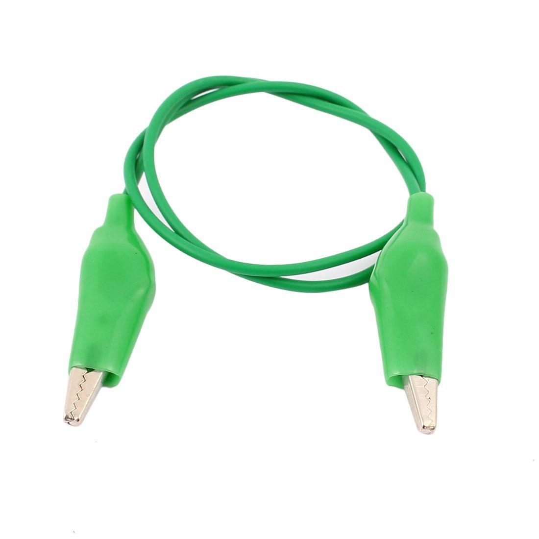 Laboratorio de la batería del coche de pruebas aislada eDealMax arranque cocodrilo clip de cable 55cm 4pcs Long Green - - Amazon.com