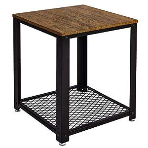 Meerveil Table d'appoint, Table de Chevet, Bout de Canapé, Table Basse, Table de Chevet Table de Salon, Style Vintage…